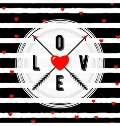 stylish happy valentines vector image vector image