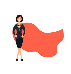 successful business woman superhero vector image