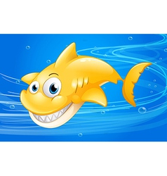 A yellow shark under the water vector image vector image