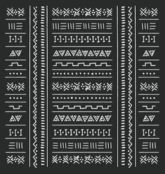 black and white tribal ethnic pattern vector image vector image