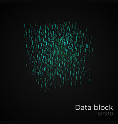 data block vector image vector image