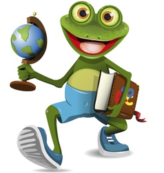 frog student vector image vector image