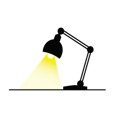 lamp with bulb color vector image vector image