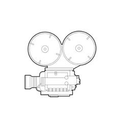 old movie camera vector image