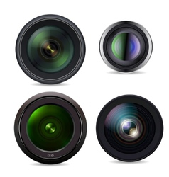 Set of Photo Lens isolated on white background vector image vector image