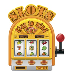 slot machine icon vector image