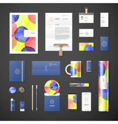 Watercolor corporate identity vector image vector image
