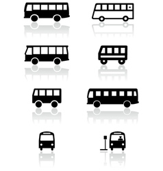 bus van symbol set vector image