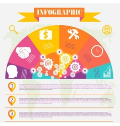 business development infographics vector image vector image