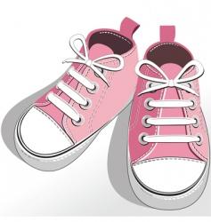 children pink shoes vector image vector image
