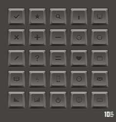 keyboard keys set vector image