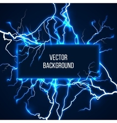 banner with lightnings and discharge vector image