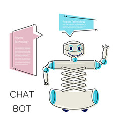 cute chat bot vector image vector image