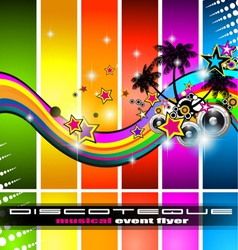 discotheque flyer vector image vector image