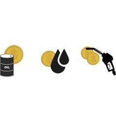 oil money icon vector image