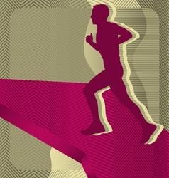 sport background running vector image