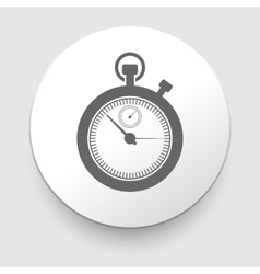 stopwatch web black icon isolated vector image vector image
