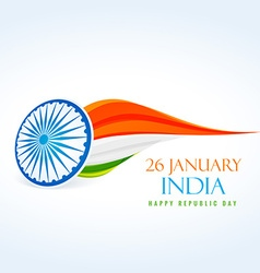 26 january republic day design vector