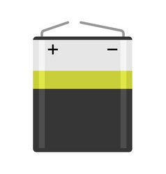 alkaline aa battery flat colorful isolated vector image