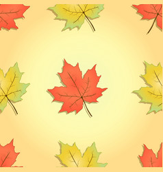 Autumn seamless pattern maple leaves vector