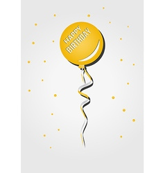 Balloon with birthday wish vector
