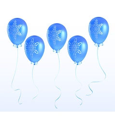 Balloons with a Christmas ornament vector image