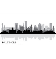 Baltimore city skyline silhouette background vector