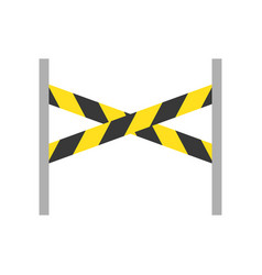 Barrier stand police related icon vector