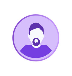 Bearded man private userpic web character online vector