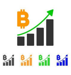 bitcoin growth trend icon vector image