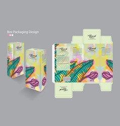 box packaging packaging design template vector image