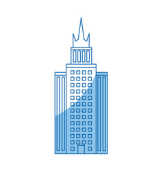 building skyscraper high facade urban outline vector image