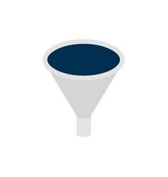 business funnel isometric object vector image
