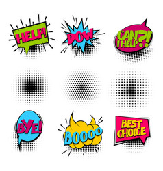 Bye set colored comics book balloon vector