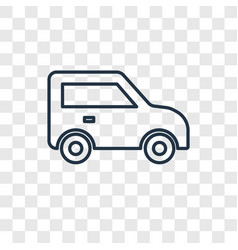 Car toy concept linear icon isolated on vector