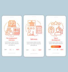 Career growth orange gradient onboarding mobile vector