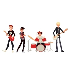 Cartoon rock group musicians vector