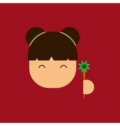 China woman face of Chinese vector