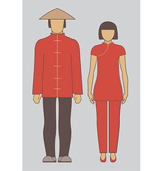 Chinese couple vector image