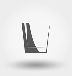 classic glassful icon vector image