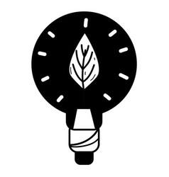 Contour bulb with leaf inside to reduce energy vector