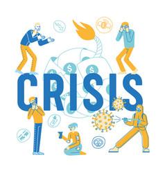 Coronavirus outbreak global economy crisis vector