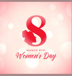 Creative happy womens day poster wishes card vector