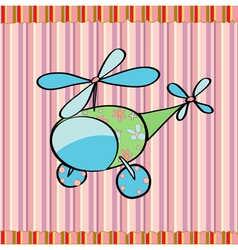cute little helicopter vector image