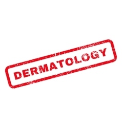 Dermatology Text Rubber Stamp vector