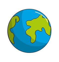Earth planet environment conservation icon vector