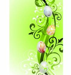 Easter illustration with painted eggs vector image vector image