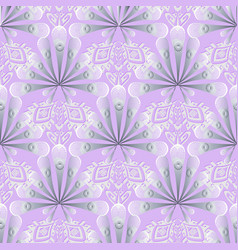 elegance lace 3d greek floral seamless pattern vector image