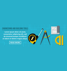 engineering and building tools banner horizontal vector image
