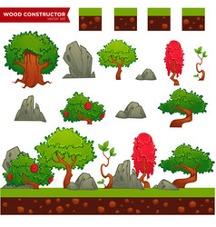 Fantasy wood constructor for your mobile or vector